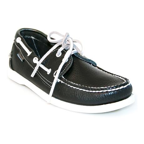 Juan Boat Shoe // Navy Blue, White