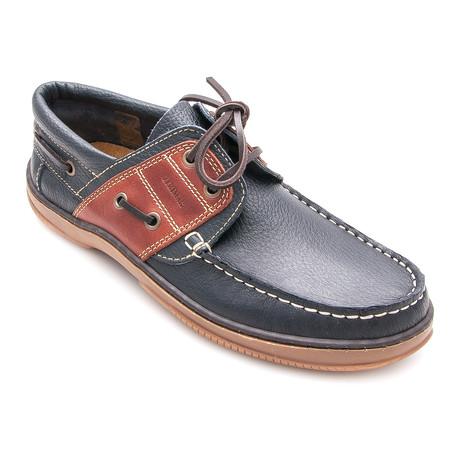 Saul Boat Shoe // Navy Blue