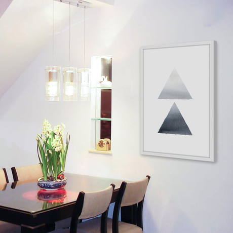 Grey Shades // Framed Painting Print
