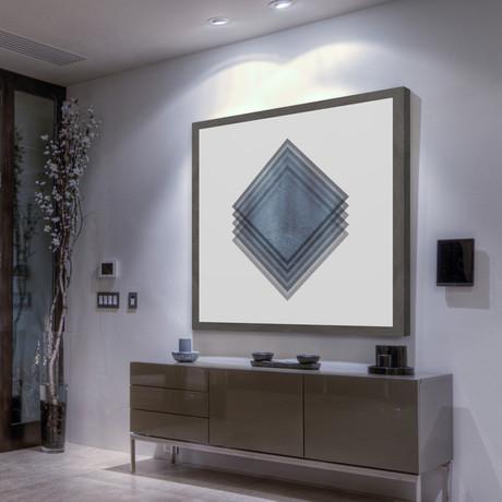 Diamonds Edge // Framed Painting Print