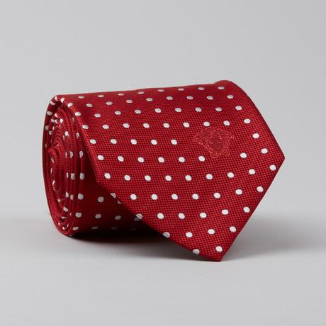 Toorop Silk Tie // Red + White Polkadots