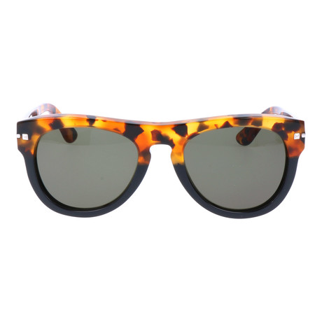 Thick Frame Rounded Wayfarer // Yellow Tortoise + Black