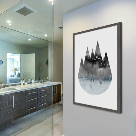 Grey Matter // Framed Painting Print