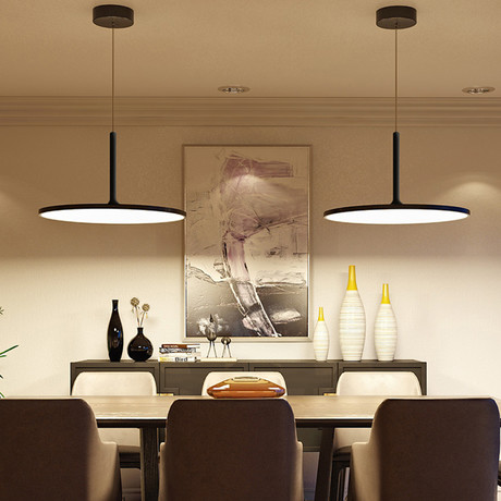 Salm // Disc Chandelier // Black