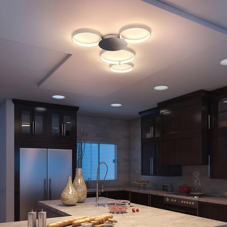 Capella // Tunable White Ceiling Fixture // Silver