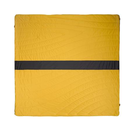 Super Fleece Blanket // Yellow + Charcoal