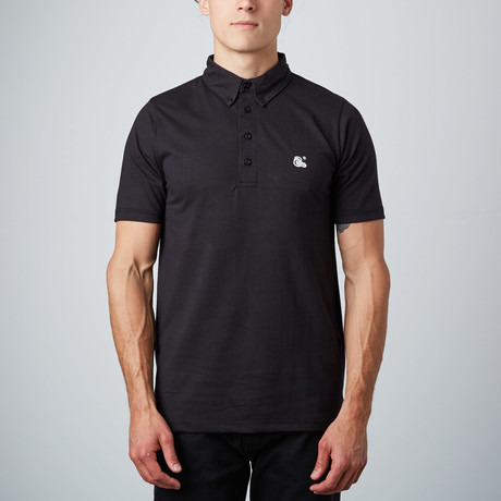 Frank Short-Sleeve Polo // Black