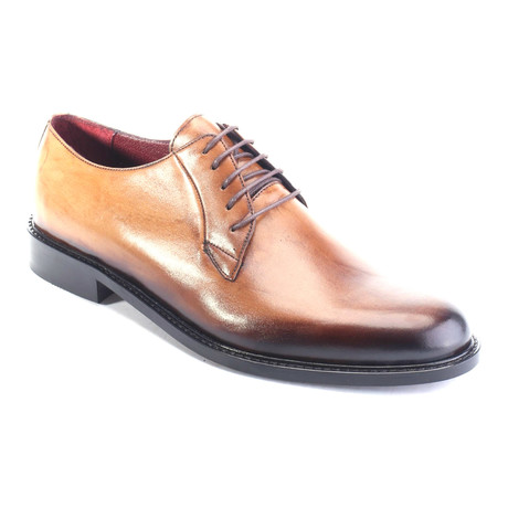 Aahan Plain Toe Derby // Beige
