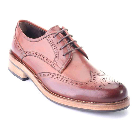 Aamil Wingtip Derby // Antique Tobacco