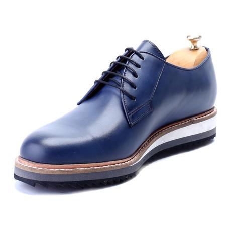 Aandaleeb Plain Toe Derby // Dark Blue