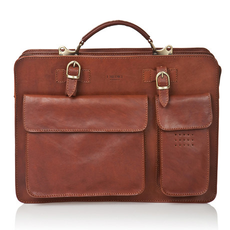 Medici Of Florence // Office Bag 4700 // Matte Clear Brown
