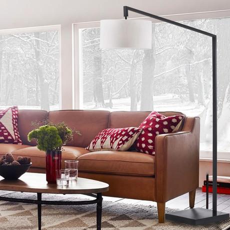 Stretch Chairside // Arc Lamp (Matte Black)