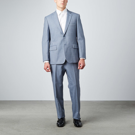Via Roma // Half-Canvas Suit // Light Grey Sharkskin