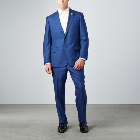 Via Roma // Half-Canvas Suit // Royal Blue Sharkskin