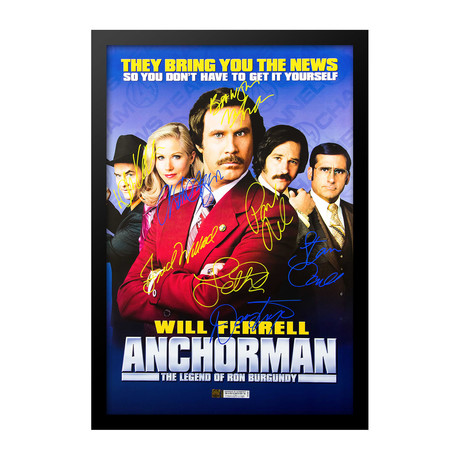 Anchorman Signed Movie Poster // Cast