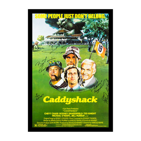 Caddyshack Signed Movie Poster