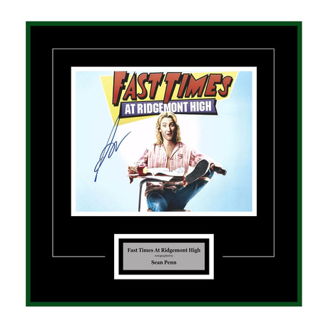 Fast Times at Ridgemont High Signed Photograph // Sean Penn