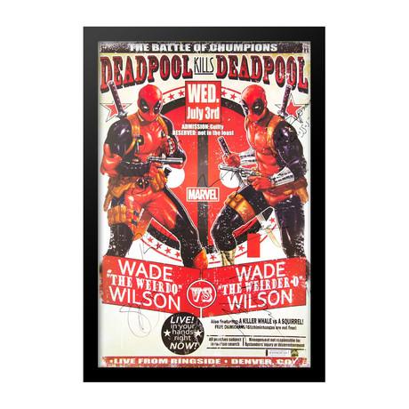 Deadpool Signed Poster // Deadpool Kills