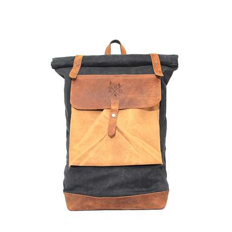 Lundy Rolltop Backpack // Blue