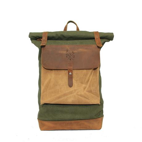 Lundy Rolltop Backpack // Olive
