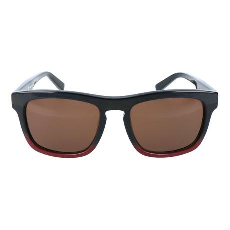 Salvatore Ferragamo // Classic Thick Rim Wayfarer // Black + Red