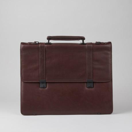 Leather Briefcase // Burgundy