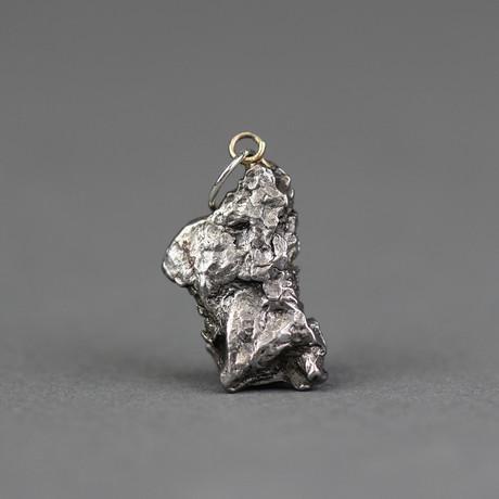 """Meteorite Pendant // Campo Del Cielo (1.25""""L x 0.7""""W x 0.7""""H)"""