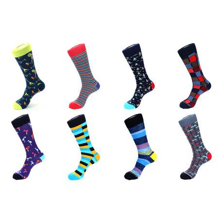 Dress Socks // Paradise // Pack Of 8