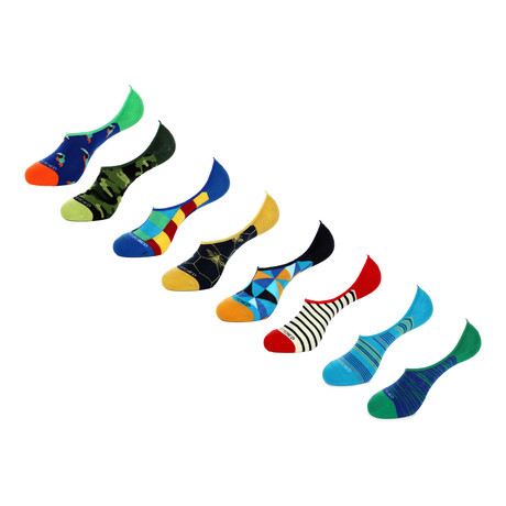 No Show Socks // Shapes + Angles // Pack of 8