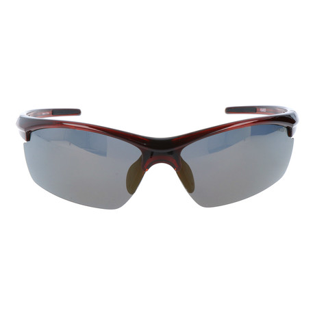Half Frame Straight Rim Sport Sunglasses // Brown
