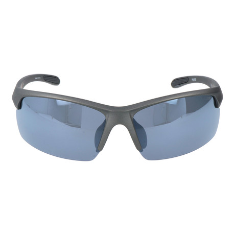 Half Frame Rectangle Sport Sunglasses // Gunmetal