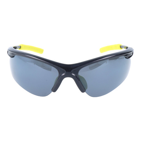 Half Frame Sport Sunglasses // Black + Yellow