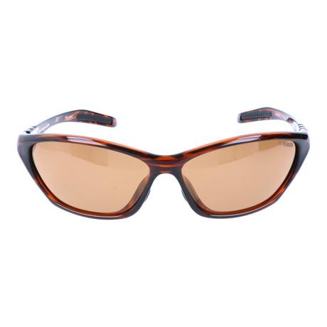 Angled Sport Sunglasses // Brown