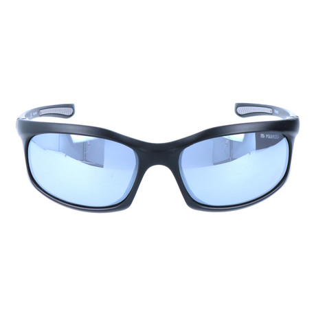 Chiseled Sport Sunglasses // Black + Mirror