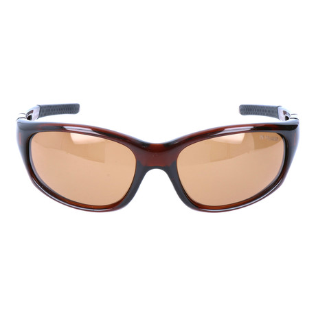 Angled Square Sport Sunglasses // Brown