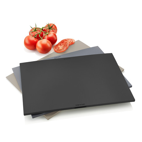 Chopping Board // Set of 3 + Holder // Gray