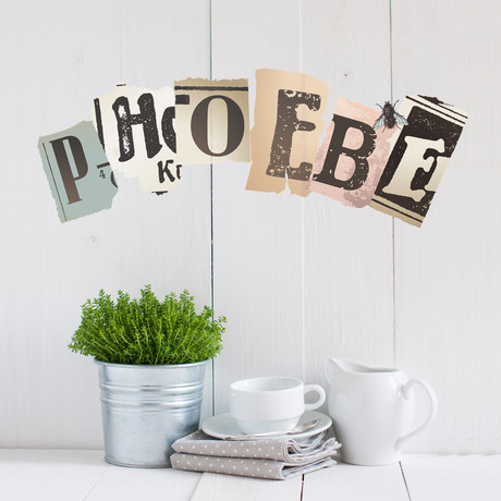 Vintage Newspaper Cutouts // Uppercase