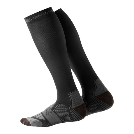 Running Compression Socks // Black + Pewter (XS)