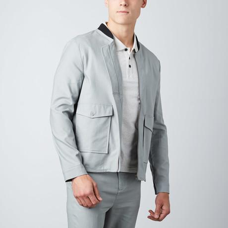 Zip-Up Shirt Jacket // Sage (XL)