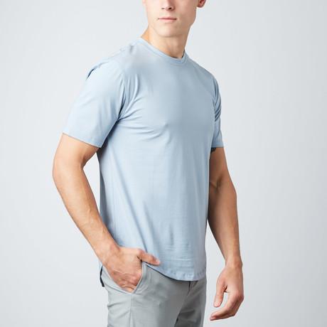Wade Short-Sleeve Tail T-Shirt // Sky