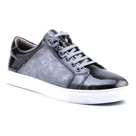 Lockhart Patent Low-Top Sneaker // Black
