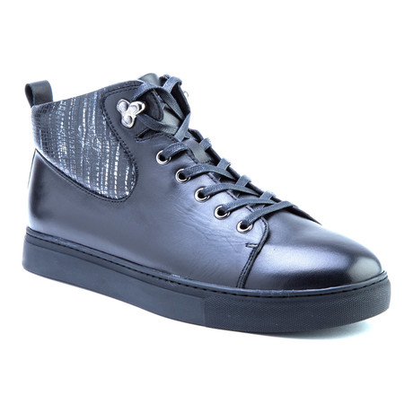 Carroll High-Top Sneaker // Black