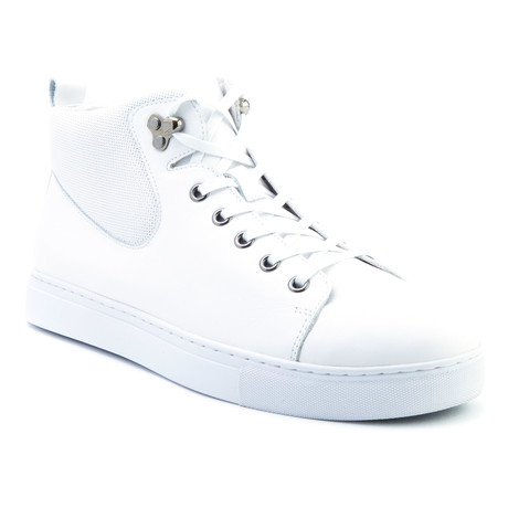 Sanders High-Top Sneaker // White