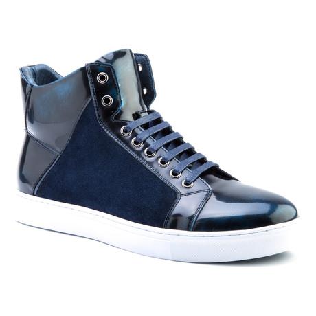 Douglas Patent High-Top Sneaker // Navy
