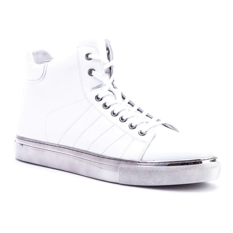 Hunter High-Top Sneaker // White (US: 8)
