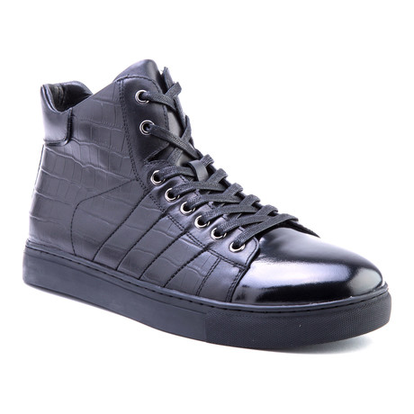 Clift Patent High-Top Sneaker // Black (US: 8)