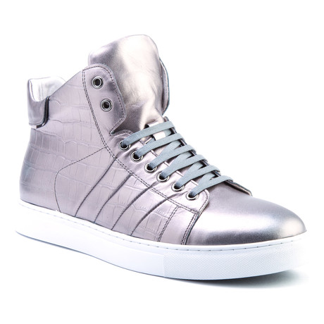 Clift Patent High-Top Sneaker // Gun Metal (US: 8)