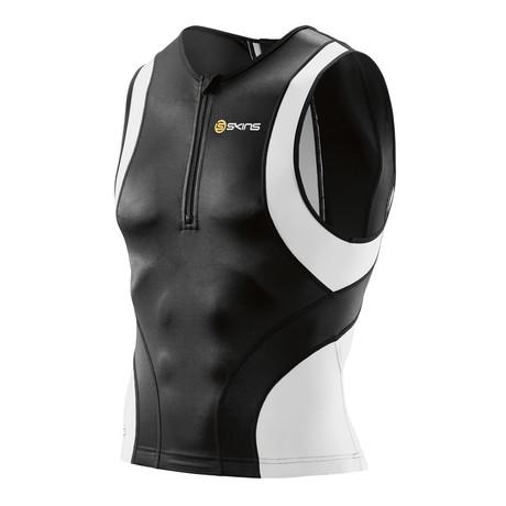 TRI400 Triathlon Compression Top // Black + White