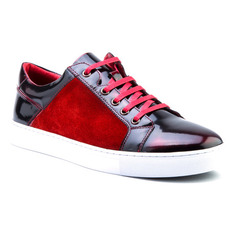 Lockhart Patent Low-Top Sneaker // Red (US: 8)
