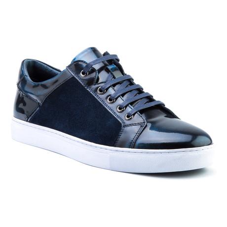 Lockhart Patent Low-Top Sneaker // Navy